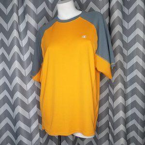 CHAMPION orange and gray shirt